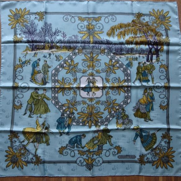Hermès Joies d'Hiver jacquard scarf