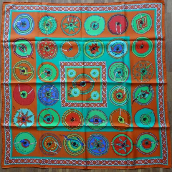 Hermès Belles du Mexiques silk scarf