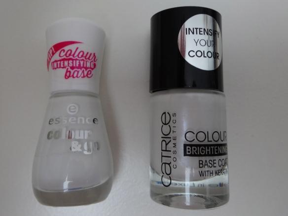 essence colour & go Intensive Base  und Catrice Brightening Base