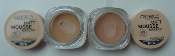 Catrice Matt Mousse Make-up 010 Soft Ivory - 020 Nude Rose