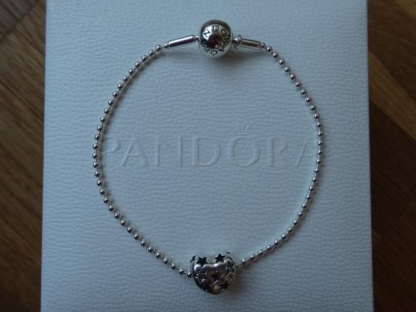 Pandora Essence bracelet with open work heart bead
