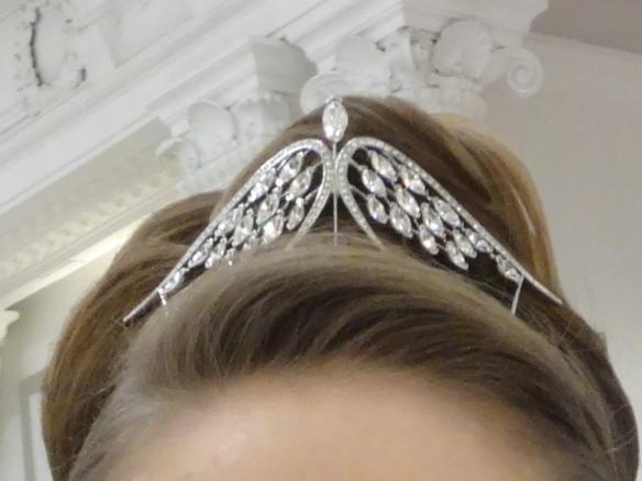 "Swarovski's ""Swift"" tiara  on  a lovely debutante's hair"