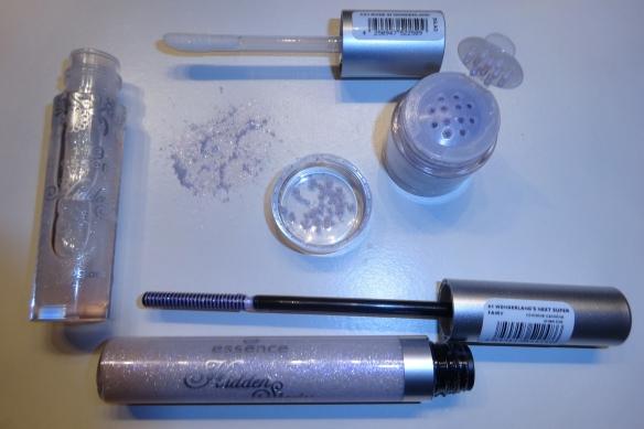 hidden beauty lip gloss, shimmer pigments & mascara topper