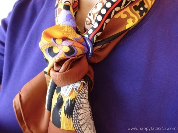 MaiTai Collection Tuchring in lila - Hermès La Femme aux Semelles de Vent Tuch